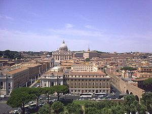 Castel Sant'Angelo - The view from Castel Sant'Angelo towards Vatican City.