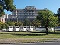 Viking line tour buses and National Széchényi Library, 2019 Tabán.jpg