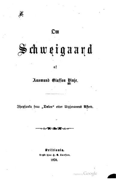 File:Vinje - Om Schweigaard.djvu