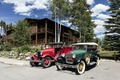 Vintage fire engine and automobile outside Grand Lake Lodge in Grand Lake, Colorado LCCN2015633703.tif
