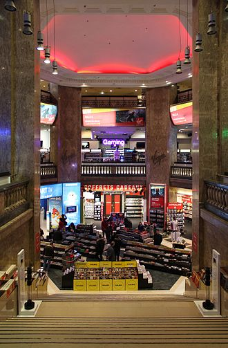 Virgin Megastores - Main hall of Virgin Megastore Paris