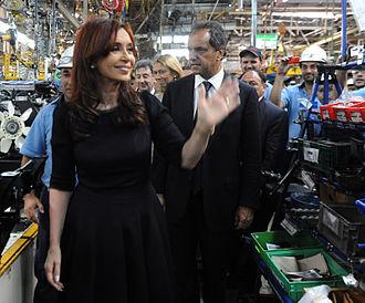 Public image of Cristina Fernández de Kirchner - Cristina Kirchner, dressed in black