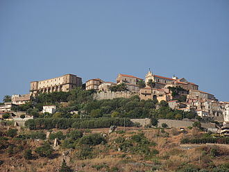 Nicotera - View of the upper town with the castle on the left