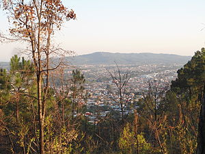 Uruapan - View of the city from the Cerro de la Charanda.
