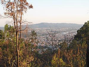 Uruapan - View of the city from the Cerro de la Charanda.