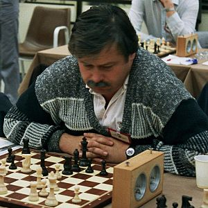 Vlastimil Hort - Hort at the Thessaloniki Olympiad in 1988