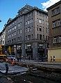 Vodičkova 28, rekonstrukce tramvajové trati.jpg
