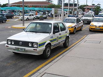 Volkswagen Citi Golf - Volkswagen Citi Golf as a police car South Africa