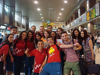 Malta Medical Students' Association students at an event in Bucharest in 2014 Voluntary experience in Bucharest, July 2014.jpg