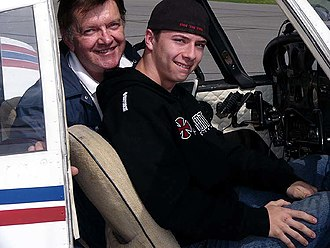 Young Eagles - A Young Eagle participant departing on his flight with a volunteer pilot