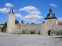 Mühlhausen: City wall at Frauentor gate