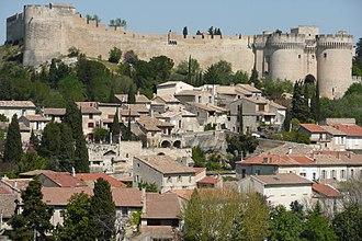 Fort Saint-André (Villeneuve-lès-Avignon) - View to the Fort Saint-André over the town of Villeneuve