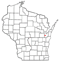 Location of Lawrence, Wisconsin