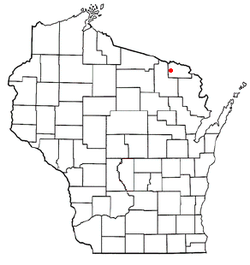 Vị trí trong Quận Florence, Wisconsin