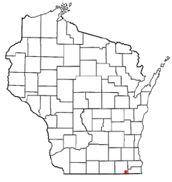 Location of Pell Lake, Wisconsin