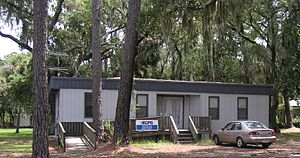 WSVH - The trailer on the Skidaway Marine Science Campus, Skidaway Island, Georgia, USA, from which WSVH operated until 2011.