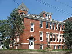 The town's historic Wabash Township Graded School