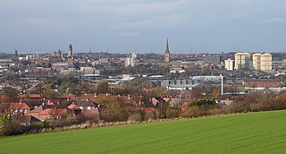 Wakefield city in West Yorkshire, England