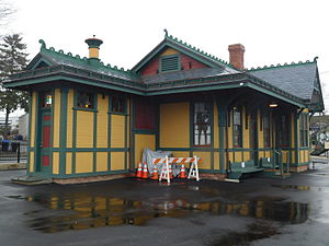Waldwick station - The Waldwick station depot, post-restoration, in March 2016.