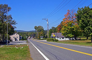 Walker Valley, New York - Looking into Walker Valley from the east along NY 52