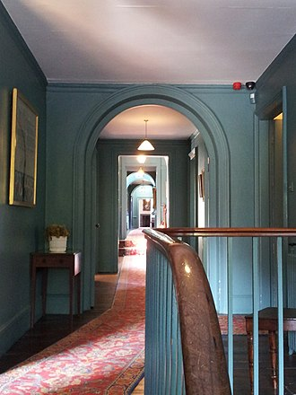 Walmer Castle - The central corridor on the first floor of the castle, looking north