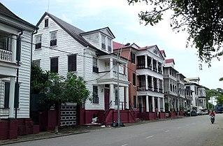Waterkant Street in Paramaribo, Suriname