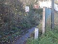 Weak bridge sign but no road - geograph.org.uk - 625493.jpg