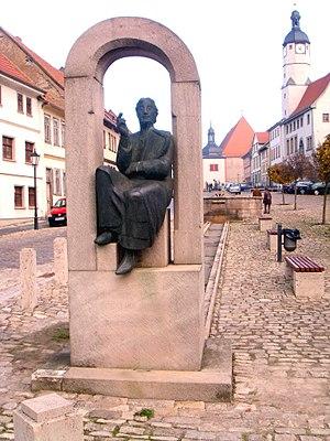 Walther von der Vogelweide - Monument for Walther von der Vogelweide in the Marketplace of Weißensee (Thüringen)