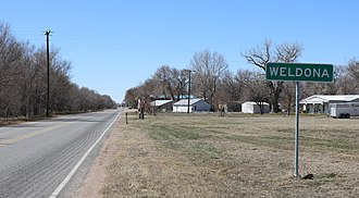 Weldona, Colorado - Weldona and Colorado State Highway 144.