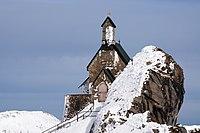 « Église au sommet du mont Wendelstein, dans les Préalpes bavaroises, Allemagne »