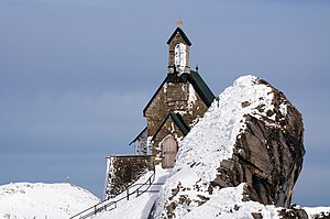 church at the top of the Wendelstein
