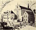 Werl, altes Kapuzinerkloster um 1880, Zeichnung von Adolf Stampfer.jpg