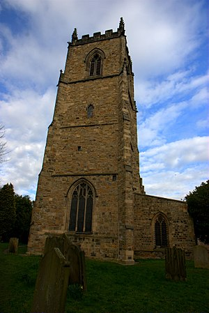 St Oswald's Church, Durham - The tower of St Oswald's