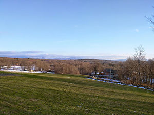 Westford, Vermont - View overlooking the Westford community