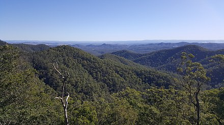 D'Aguilar Range from Westridge Outlook in D'Aguilar National Park Westridge Outlook view, D'Aguilar National Park.jpg