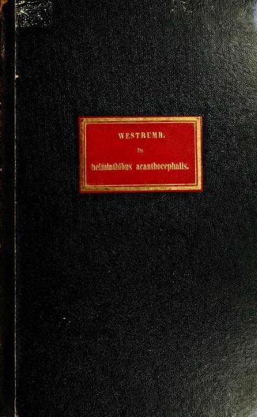 File:Westrumb, A.H.L. - De Helminthibus acanthocephalis (1821).djvu