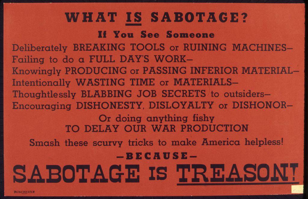 Meaning of sabotaging