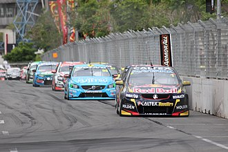 Jamie Whincup - Whincup leads the field at the 2014 Sydney NRMA 500.
