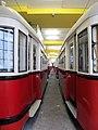 Wiener Straßenbahnmuseum - Abgestellte Museumstrassenbahnen im Depot.JPG