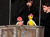 Wiesbaden Stadtfest 2013 Velvets Theater Making Off 02 Schneewittchen.JPG