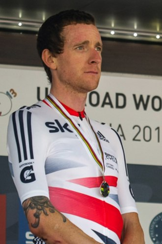 Hour record - Current hour record holder Bradley Wiggins, pictured here at the 2013 UCI Road World Championships
