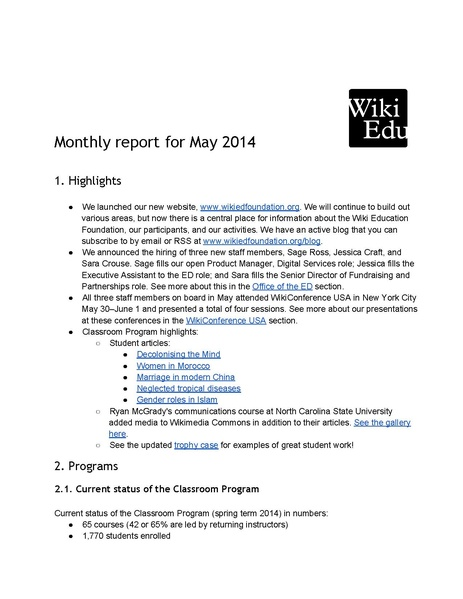 File:Wiki Education Foundation Monthly Report 2014-05.pdf