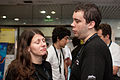 Wikimania 2009 - Organizers chatting.jpg