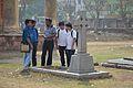 Wikimedia Kolkata Team Studying James Peddie Grave - St Johns Churchyard - West Midnapore - 2015-02-25 6121.JPG