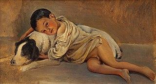 Napolitansk dreng og hund