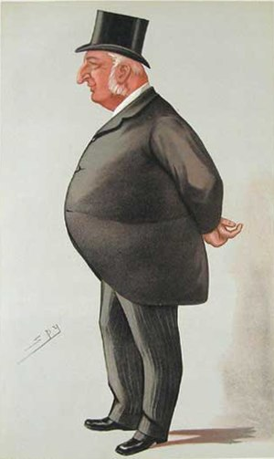 "William Cotton (Lord Mayor) - ""the City"" Cotton as caricatured by Spy (Leslie Ward) in Vanity Fair, September 1885"