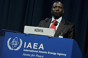 Nandi people - William Ruto at the 54th Regular Session of the IAEA General Conference.