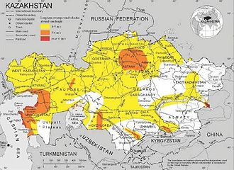 Renewable energy in Kazakhstan - High potential regions for Windpower plants