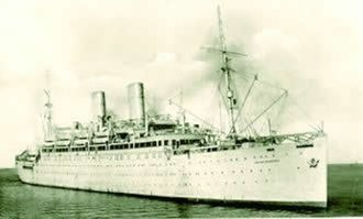 Brixton - The Empire Windrush which brought immigrants from the Caribbean to Tilbury in 1948.