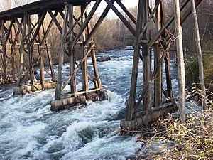 Winnipesaukee River - Winnipesaukee River entering Franklin